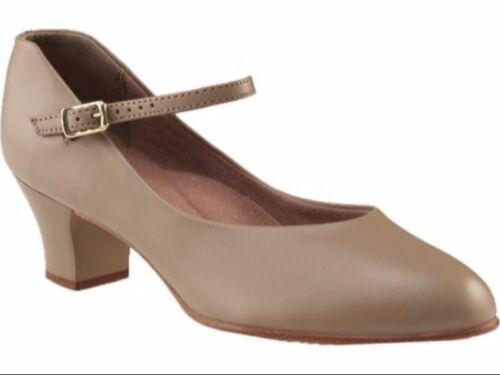 "Capezio Tan 1.5"" Adult Jr. Footlight Character Shoes"