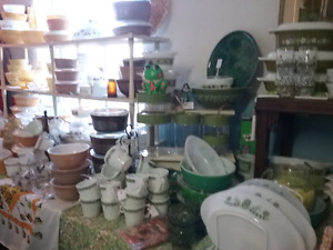 Pyrex, kitchenware, Glassware furniture plus 1000 booths