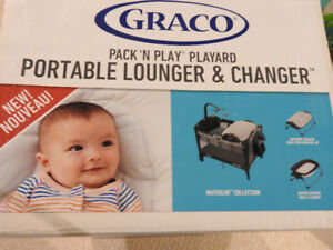 Graco portable crib with changer