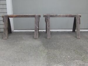 Wooden Sawhorses, made in Saint John in 1901.