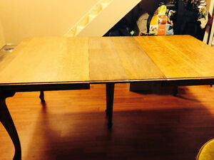 Reduced! Need the space! Antique Oak Dining Table and Chairs Belleville Belleville Area image 2