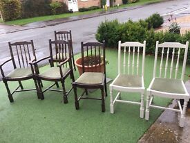 Solid Wood Antique chairs shabby chic