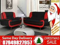 Christmas Special-----Leather 3 and 2 Sofa