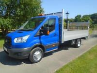 FORD TRANSIT 350 125PS 14FT DROPSIDE PICKUP TAIL LIFT 15 REG 114,000 MILES