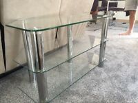 Glass Coffee Table and TV Stand