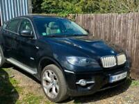 LEFT HAND DRIVE 2010 BMW X6 4.4 ACTIVEHYBRID AUTO BLACK LHD SPARES OR REPAIRS