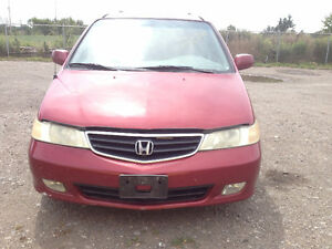 PARTS AVAILABLE FOR A 2002 Honda Odyssey 5dr EX-L
