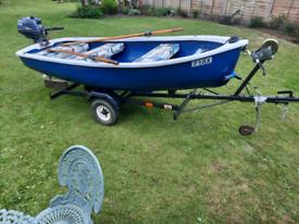 Tender motor boat