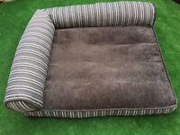Luxurious large dog bed (sofa bed) memory foam cushioned.