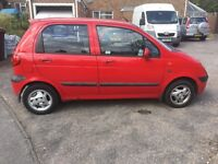 Daewoo matiz 800cc se plus 5 door 53 reg bright red l/mot px vehicle clearance very clean