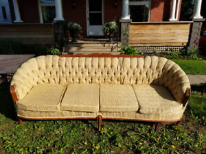 Free beautiful vintage sofa and glass patio table