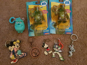 Disney key chains and magnets