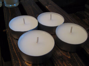 Various White Candles, taper, in holders, tealights, etc. Kitchener / Waterloo Kitchener Area image 4