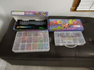 2 sets of Rainbow Looms comes with organiser case & manual