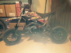 50cc dirtbike, its been done top to bottom, one of a kind
