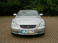2002 02 Lexus SC 430 4.3 2dr WITH FSH+M/L SOUND+LTHR+SATNAV