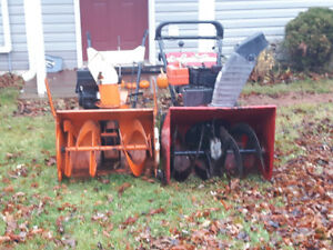 26 and 30 inch snowblower