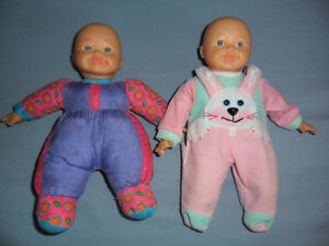 twin baby dolls 10 inches tall