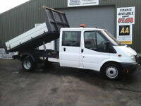 Ford Transit 2.4TDCi Duratorq ( 115PS ) Double cab tipper *Ex council 93k miles*