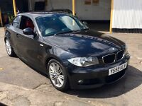 2010 BMW 118D M Sport Coupe, Red Leather seats, Sat Nav, LONG MOT till 2017