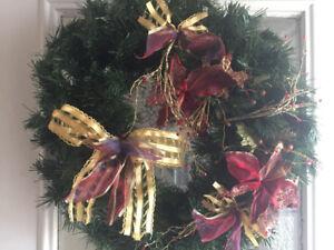 Reduced!! Nice Christmas door Wreath