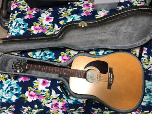 Brand New Simon Patrick Guitar With Black Hard Case.