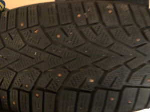 Pair of 225-65R-17T NORD FROST studded tires, used two seasons.