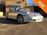 2004 04 PORSCHE BOXSTER 2.7 SPYDER 2D 228 BHP FULL BLACK LEATHER