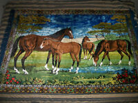 Large horse tapestry or rug