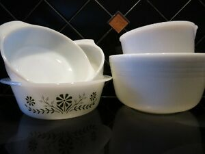 5 - Vintage retro Milk Glass Dishes all for $18 OBO -