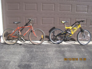 TWO MOUNTAIN BIKES FOR $25