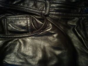 Danier 36/38 Lamb leather jeans Peterborough Peterborough Area image 3