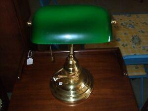 Antique/vintage bankers lamp and oak lamps London Ontario image 6