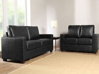 BRAND NEW GALAXY LEATHER SOFA SET ON OFFER - 2 COLOURS
