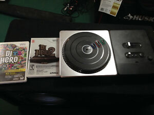 DJ hero games and turntable
