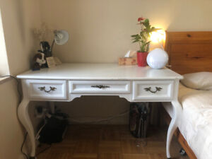 Antique French Provincial Style White Desk - Made in Canada
