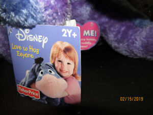 """Fisher Price large plush Talking """"Love to Hug"""" EEYORE with tags"""