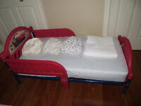 Cars Toddler Bed, Mattress & Pad, 3 Fitted Sheets Watch|Share |P