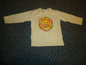 Boys Size 2 Long Sleeve Lion Cotton T-Shirt