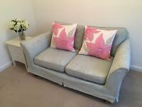 Duck egg sofa £300 excellent condition, removable covers that fit in the washing machine