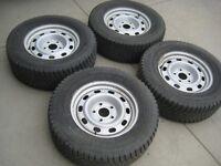 Set of 4 Dodge Dakota Durango rims w/ 265/65R17 Winter ice tires