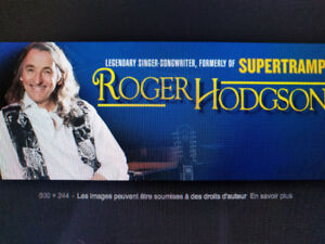 Roger Hodgson 29 Octobre Montréal billets 1ère rangée du balcon