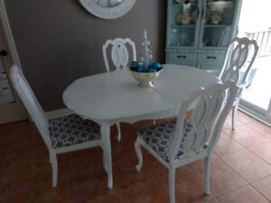 Antique Dining Room Set and Four Chairs
