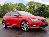 SEAT Leon 2.0 TDI CR FR (Tech Pack) SportCoupe 3dr (start/stop) (red) 2014