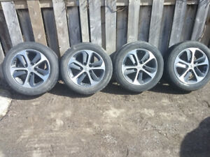 205/55 R16 aluminum rims and tires for sale off Hyundai GT