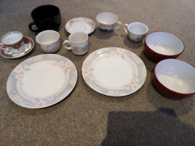 Plates cups and bowls