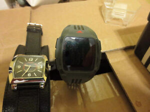 2 Watches Adidas Red Display 50mm Watch Dickies Black Cuff Watch