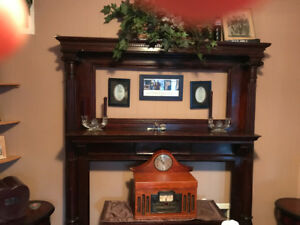 Solid wood fireplace frame