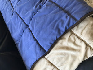 Pottery Barn Kids navy reversible comforter (and bonus clock)