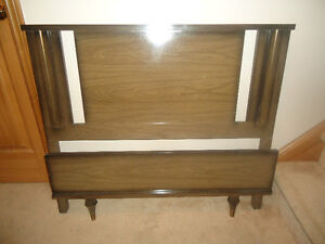 RETRO TWIN BED HEAD AND FOOTBOARD - NO RAILS INCLUDED